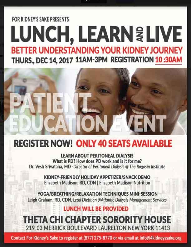 Better Understanding Your Kidney Journey - Laurelton NY event.