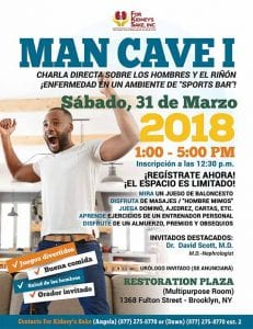 Man Cave Event - Flyer in Spanish